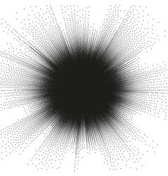 Burst stippled background EPS 10 vector image