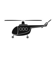 air transport helicopter transport with blades vector image