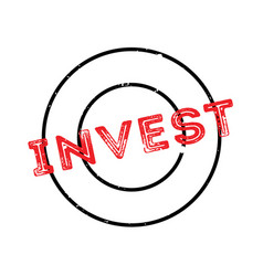 invest rubber stamp vector image