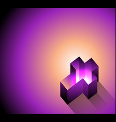 3d glowing christian cross background vector