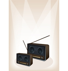 Old radio stage background vector