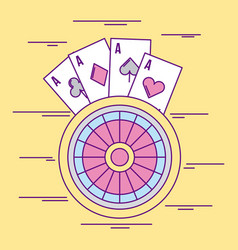 casino betting pictures vector image