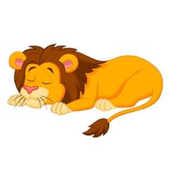 Lion cartoon sleeping vector
