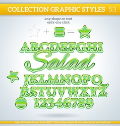 Salad graphic styles for design use for decor text vector
