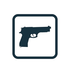 Gun icon rounded squares button vector