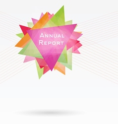 Background with triangles and lines annual report vector