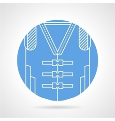 Blue icon for life jacket vector