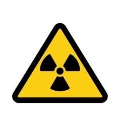 The radiation icon radiation symbol flat vector
