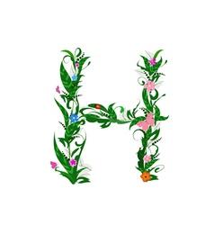 Cover letter flower vector