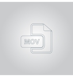 Mov video file extension icon vector