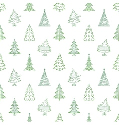 Christmas trees seamless vector