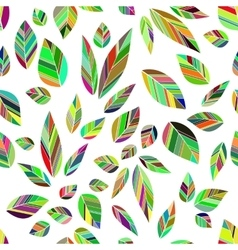 leaves seamless colored vector image