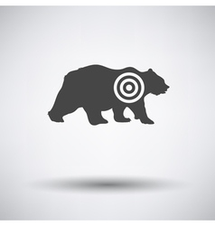 Bear silhouette with target icon vector