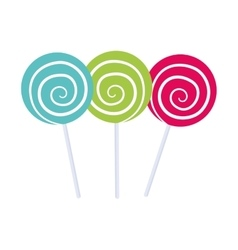 Sugar food design candy icon sweet vector image