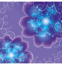 Abstract background with flower vector image vector image