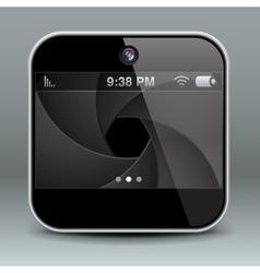 App design mobile phone camera icon vector