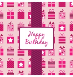 birthday gifts vector image vector image