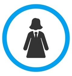 Business lady flat rounded icon vector