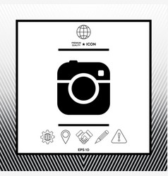 Camera symbol icon vector