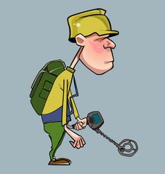 Cartoon character of man walking vector