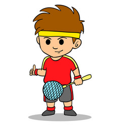Cartoon kid sport character collection vector