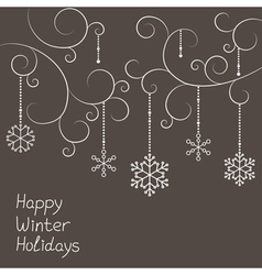 Christmas snowflakes decorations vector
