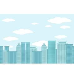City of skyscrapers horizontal seamless pattern vector