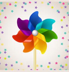 Color pinwheel vector