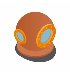 Diving suit helmet icon isometric 3d style vector