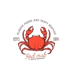 fresh seafood Red crab seafood restaurant vector image