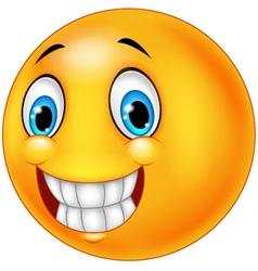 Happy smiley face vector image