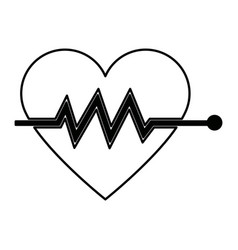 heart beat pulse for medical rhythm cardiac vector image