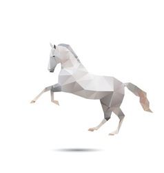 Horse abstract vector image vector image