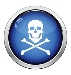 Icon of poison from skill and bones vector
