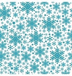 Large and small blue snowflake seamless vector image vector image