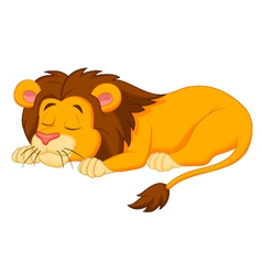 Lion cartoon sleeping vector