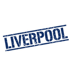 Liverpool blue square stamp vector