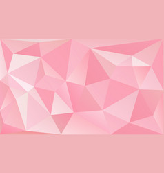 low poly romantic pink background vector image vector image