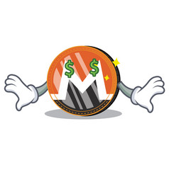 Money eye monero coin character cartoon vector