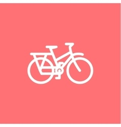 Mountain Bike Icon on a pink background high vector image vector image