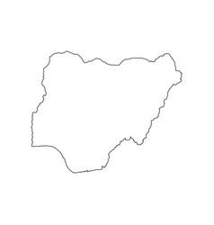 nigeria map silhouette vector image vector image