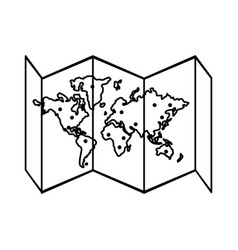Paper world map icon imag vector