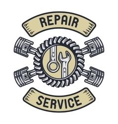 Repair service emblem vector image vector image