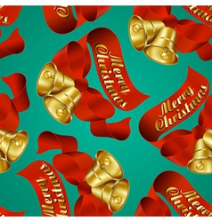 seamless merry christmas bells wrapping paper vector image vector image