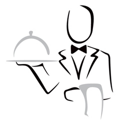 Serving dinner vector image