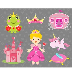 Set of Princess Party Clip Art vector image vector image