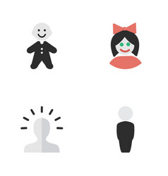 set of simple profile icons vector image vector image
