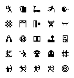 Sports and games icons 5 vector
