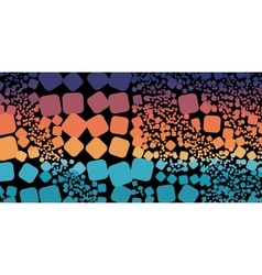 Square blue orange violet gradient geometrical vector