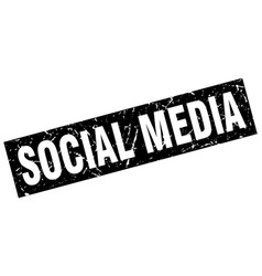 Square grunge black social media stamp vector